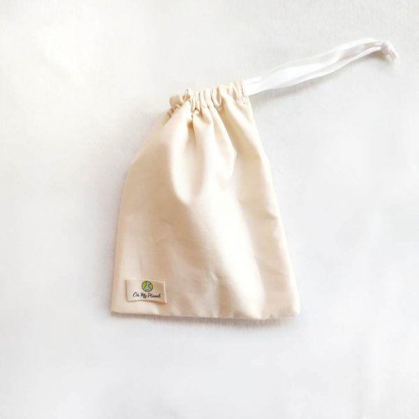 bolsa impermeable algodón organico compresas de tela