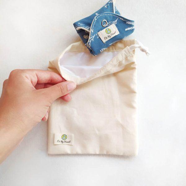 bolsa impermeable compresas de tela