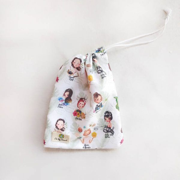 bolsa impermeable algodón orgánico para compresas de tela