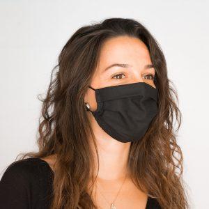 mascarilla algodón orgánico negra