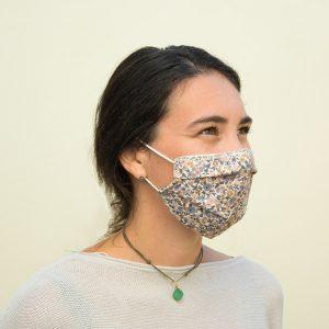 mascarilla algodón orgánico liberty