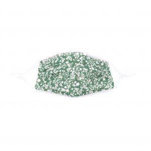 mascarilla algodon organico flores verde