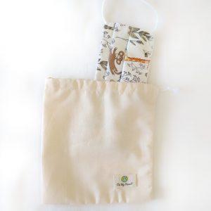 bolsa para mascarilla algodón 100% orgánico