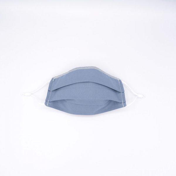 mascarilla algodon organico azul infantil